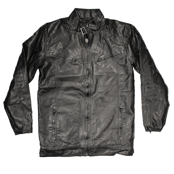 Faux Leather Bomber Jacket Tall - Replika - Mens Big Deals
