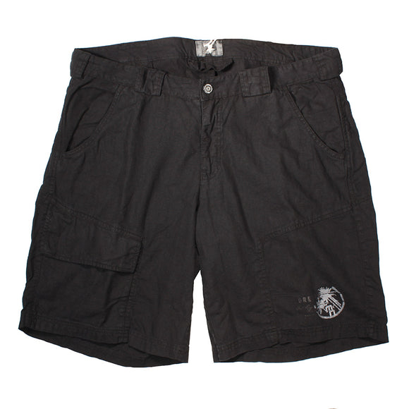 Marina Navale Black Linen Short - Greyes - Mens Big Deals
