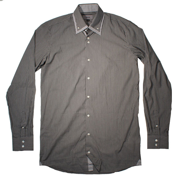 X Tall Double collar stretch shirt - Greyes - Mens Big Deals