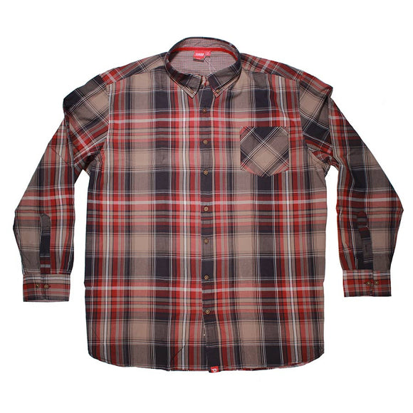 Punto LS Check Shirt - D555 - Mens Big Deals