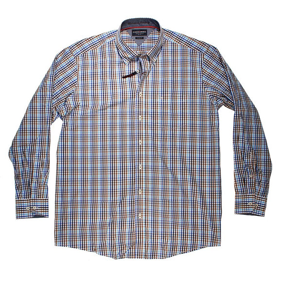 Checked Cotton LS Shirt - Casa Moda - Mens Big Deals