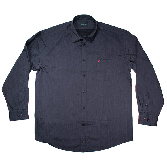 Cotton Dress LS Shirt - North 56 - Mens Big Deals