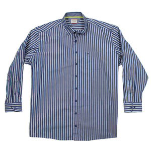 Cotton Stripe Button Down - Casa Moda - Mens Big Deals