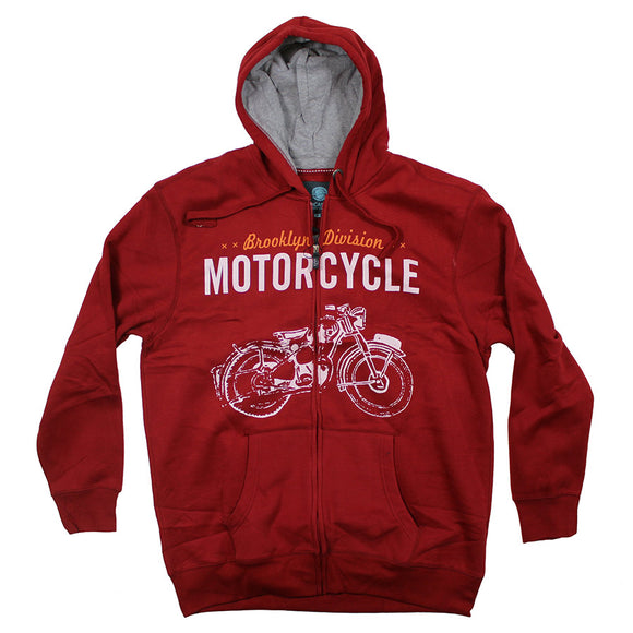 Motorcycle Hoodie - KBS - Mens Big Deals