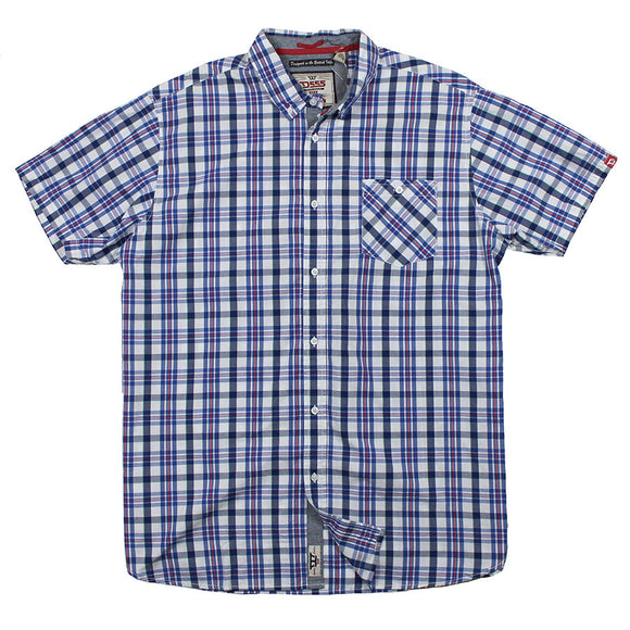 Cotton Check SS shirt - D555 - Mens Big Deals