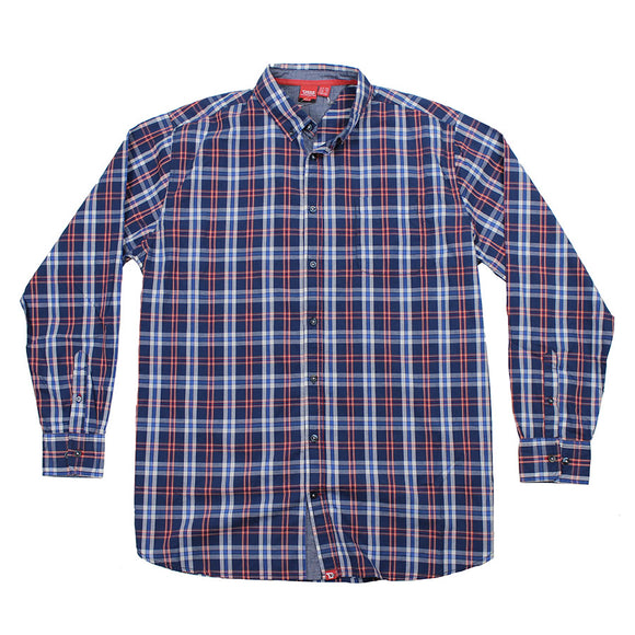 Cotton Check LS Shirt - D555 - Mens Big Deals