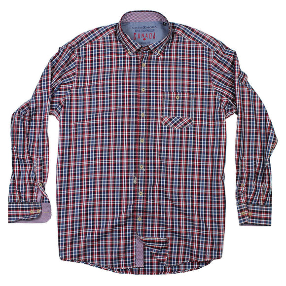 Cotton Check LS Shirt - Casa Moda - Mens Big Deals