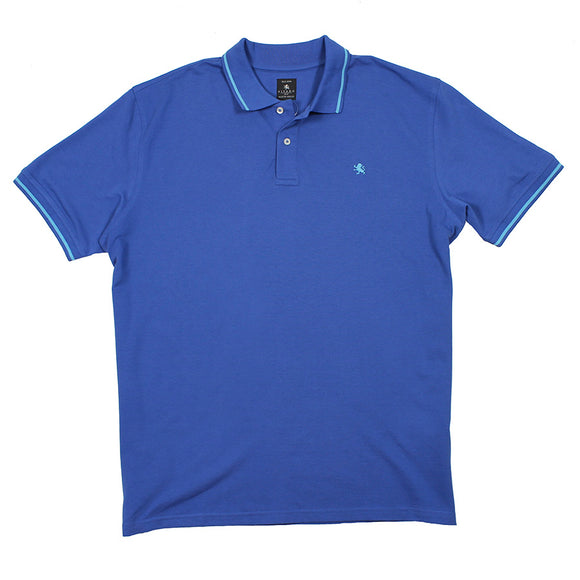 Pique Cotton Logo Polo - Kitaro - Mens Big Deals