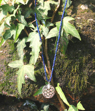 Load image into Gallery viewer, Unity necklace (carnelian. lapis, malachite, labradorite, pyrite, howlite) with silver 925 charm