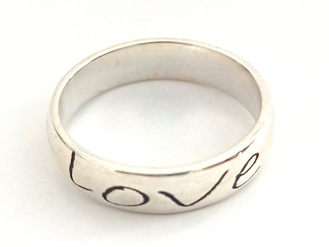 Wise word LOVE/AMOUR silver 925 ring