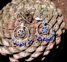 Load image into Gallery viewer, Tradition silver 925 earrings (carnelian. lapis, malachite, 7 stones, pyrite)