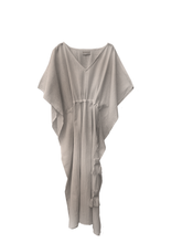 Load image into Gallery viewer, Balance kaftan cotton / sand natural dyed / free size