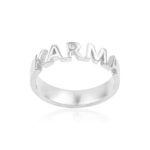 Sweet word Silver 925 ring Love/Karma/Peace