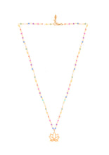 Load image into Gallery viewer, Rainbow Silver 925 gold plated/7 stones necklace