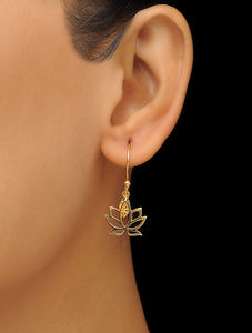 Simplicity silver 925 gold plated earrings
