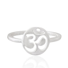 Load image into Gallery viewer, Simplicity silver 925 ring (Lotus/Mandala/Om)