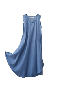 Simplicity dress cotton / indigo / S, M