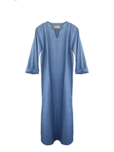 Load image into Gallery viewer, Wisdom long tunic Cotton / indigo / S-M
