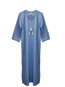 Wisdom long tunic Cotton / indigo / S-M