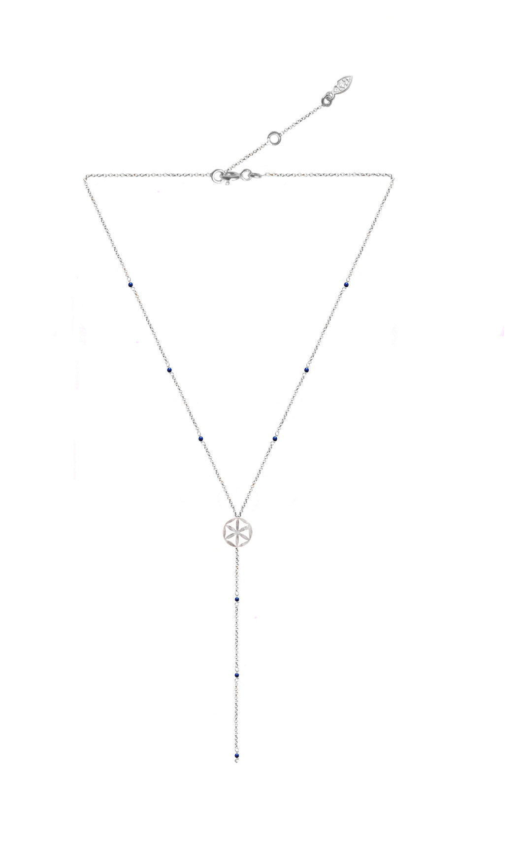 Ascendance Little flower of life Silver 925/lapis necklace