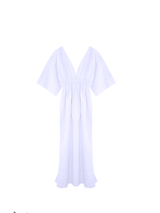 Butterfly dress bamboo silk / off white / S, M.