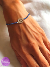 Load image into Gallery viewer, Unity bracelet (carnelian. lapis, malachite, 7 stones, pyrite) with silver 925 charm