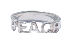 Load image into Gallery viewer, Sweet word Silver 925 ring Love/Karma/Peace