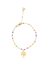 Load image into Gallery viewer, Rainbow Silver 925 gold plated/7 stones bracelet