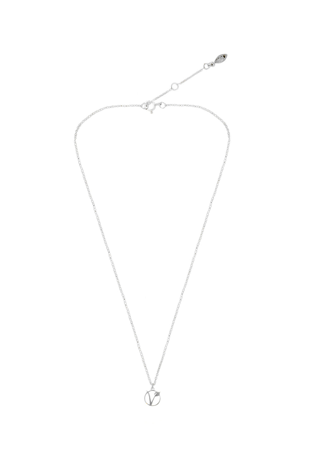 Simplicity Vegan sign silver 925 necklace
