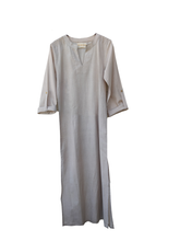 Load image into Gallery viewer, Wisdom long tunic Cotton / sand / S-M