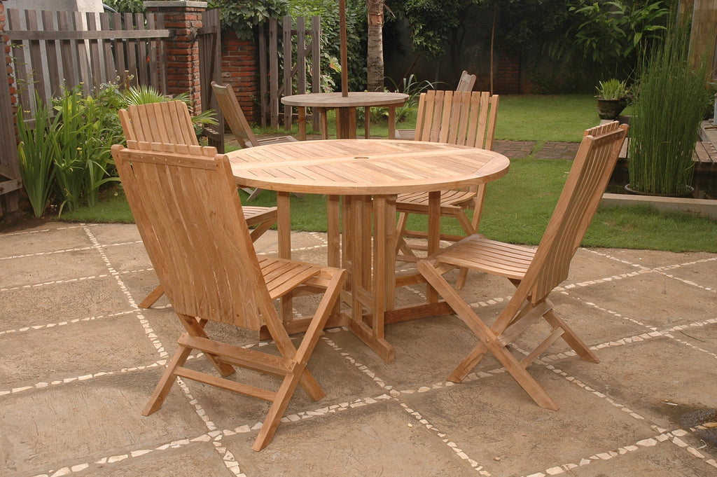 Butterfly Comfort 5-pc Dining Table Set