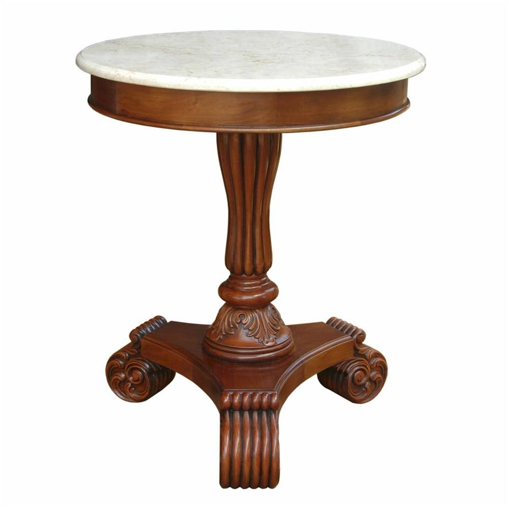 Bella Side Table with Marble Top