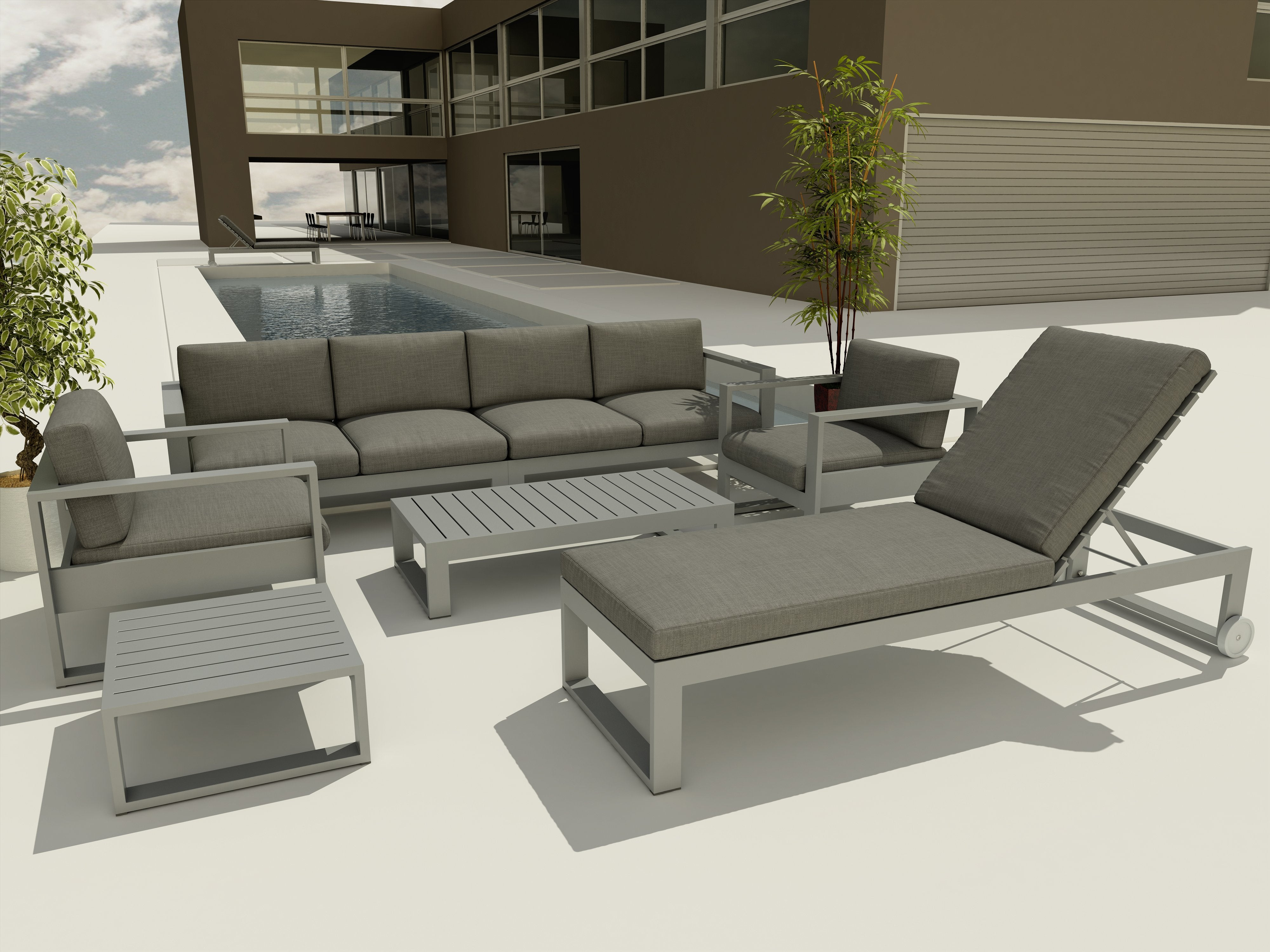Lucca 7-pc Deep Seating Lounger Set
