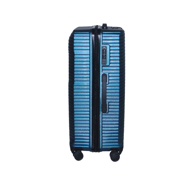 Medium Size Light Polycarbonate Trolley Luggage Bags (Blue Color)