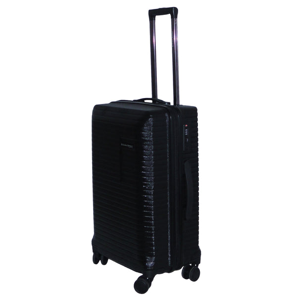 Medium Size Light Polycarbonate Trolley Luggage Bags (Black Color)