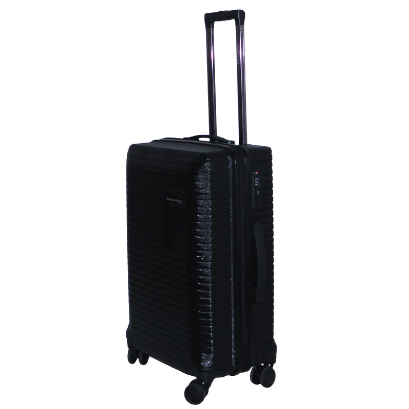 Large Size Light Polycarbonate Trolley Luggage Bags (Black Color)