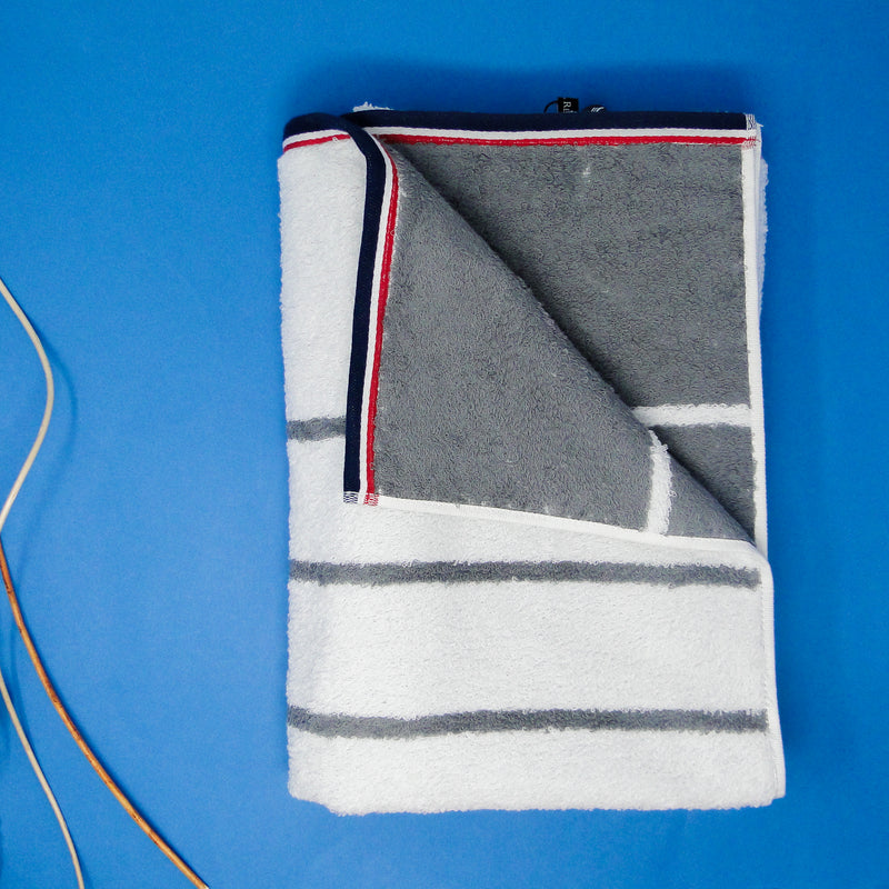 Pack of 2 Hand Towels (Grey and Red)