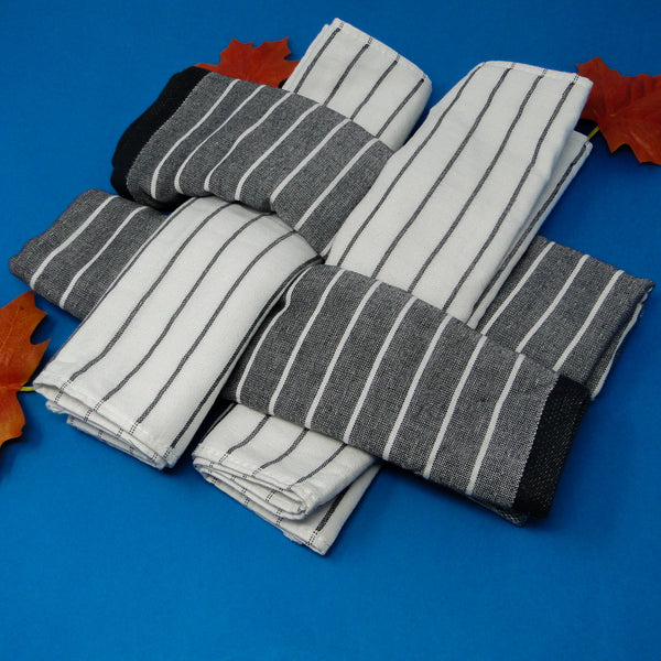 Pack of 4 Supersoft Hand Towels (2 Grey, 2 White)