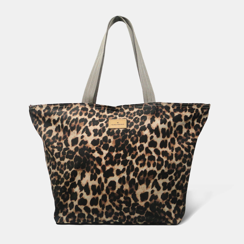 Leopard Print Shopping Bags with Multipurpose Kits (Set of 4)