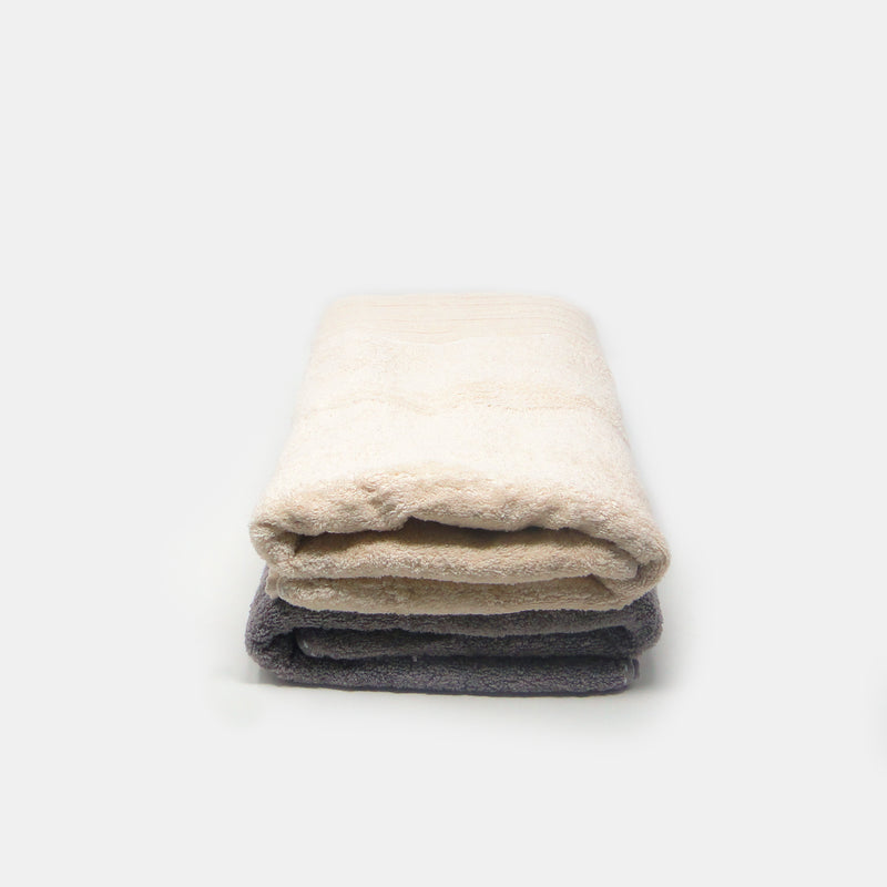 Pack of 2 Super Absorbent Bath Towel (70x140) - Brown and Beige