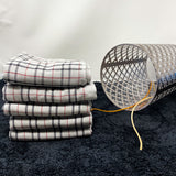 Grey Checked Hand Towel (34x75) -Pack of 4