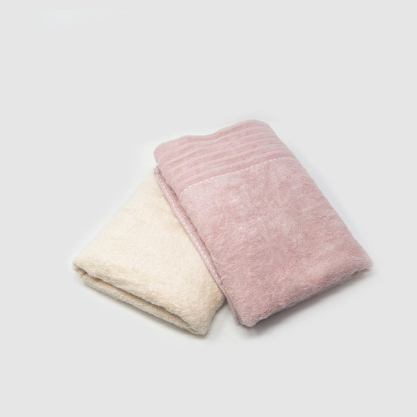 Pack of 2 Super Absorbent Bath Towel (70x140) - Onion and Beige