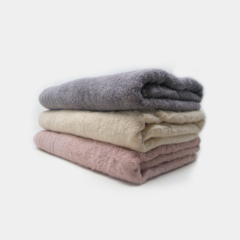 Pack of 3 Super Absorbent Bath Towel (70x140) - Onion, Brown and Beige