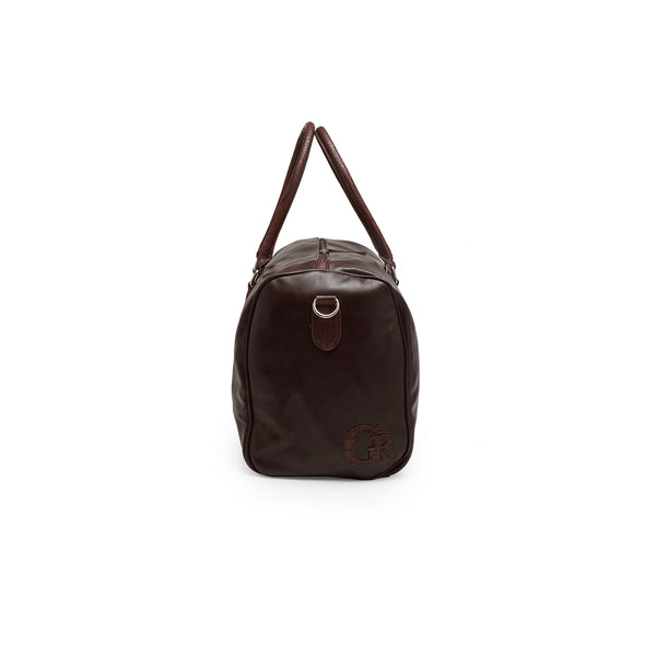 Brown, PU Leather, Travelling Duffle Bag (19X11X9)