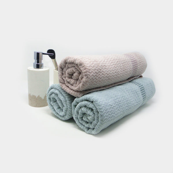 Pack of 3 Super Absorbent Bath Towel (70x140) - 1 Fawn 2 Sea Blue