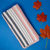 Grey and Pink Super Absorbent Bath Towels (70x140) - Pack of 2