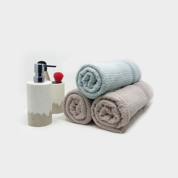 Pack of 3 Super Absorbent Bath Towel (70x140) - 2 Fawn 1 Sea Blue
