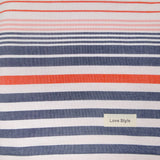 Set of 2 Grey Striped Super Absorbent Bath Towel (70x140)