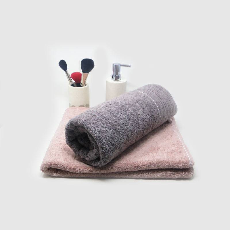 Pack of 2 Super Absorbent Bath Towel (70x140) - Onion Pink and Brown