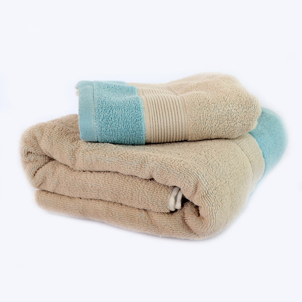 Blue Super Absorbent Solid Bath Towel (73X140,35X72)
